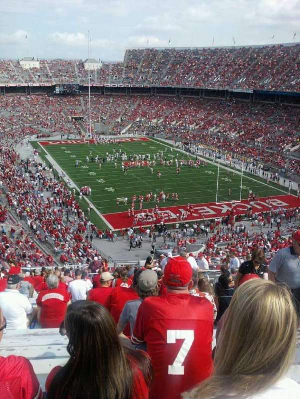 Ohio Stadium, section: 33B, row: 32, seat: 5