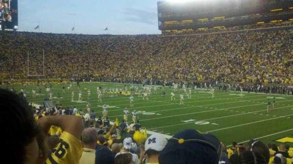 Michigan Stadium, section: 17, row: 21, seat: 3