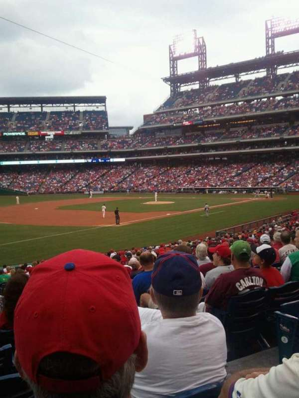 Citizens Bank Park, section: 136, row: 28, seat: 3