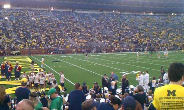 Michigan Stadium, section: 6, row: 8, seat: 21 and 22