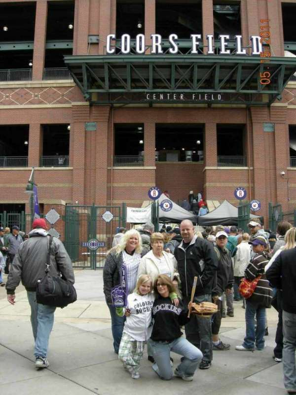Coors Field, section: Gate A