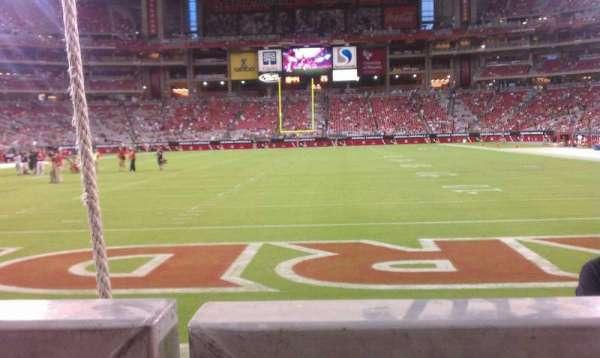 State Farm Stadium, section: 139, row: 1, seat: 8