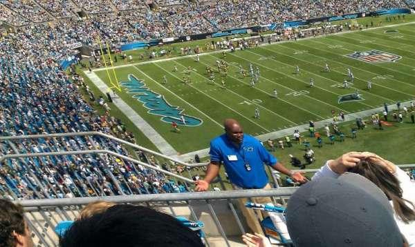 Bank of America Stadium, section: 547, row: 2, seat: 17