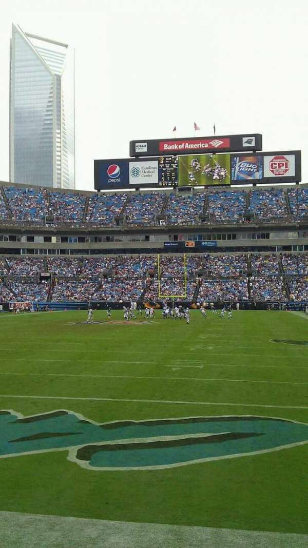 Bank of America Stadium, section: 140, row: 3, seat: 11
