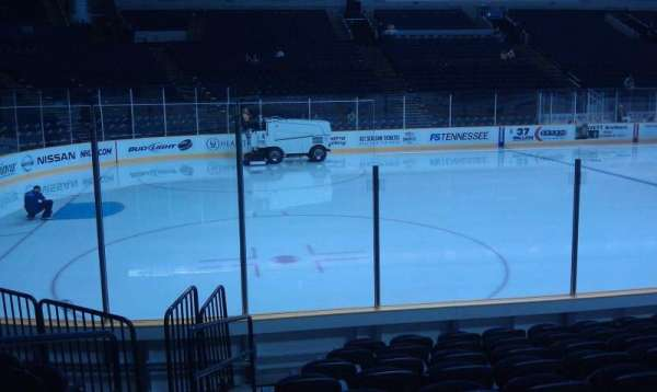 Bridgestone Arena, section: 114, row: JJ, seat: 20