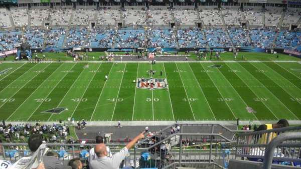 Bank of America Stadium, section: 542, row: 6, seat: 6