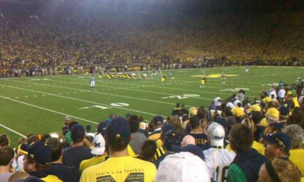 Michigan Stadium, section: 6, row: 8, seat: 21