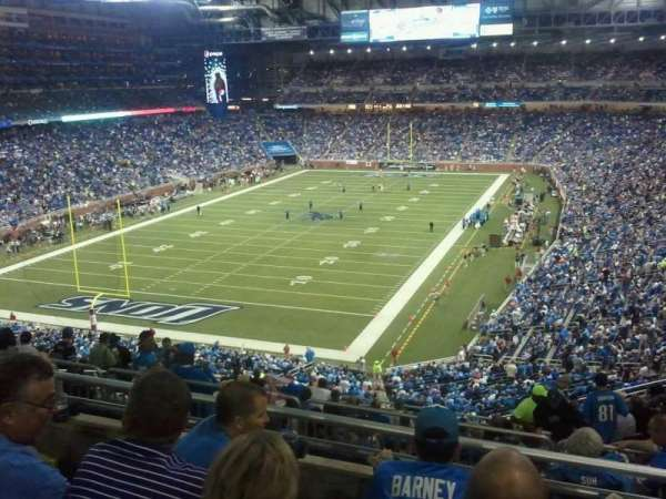 Ford Field, section: 321, row: 4