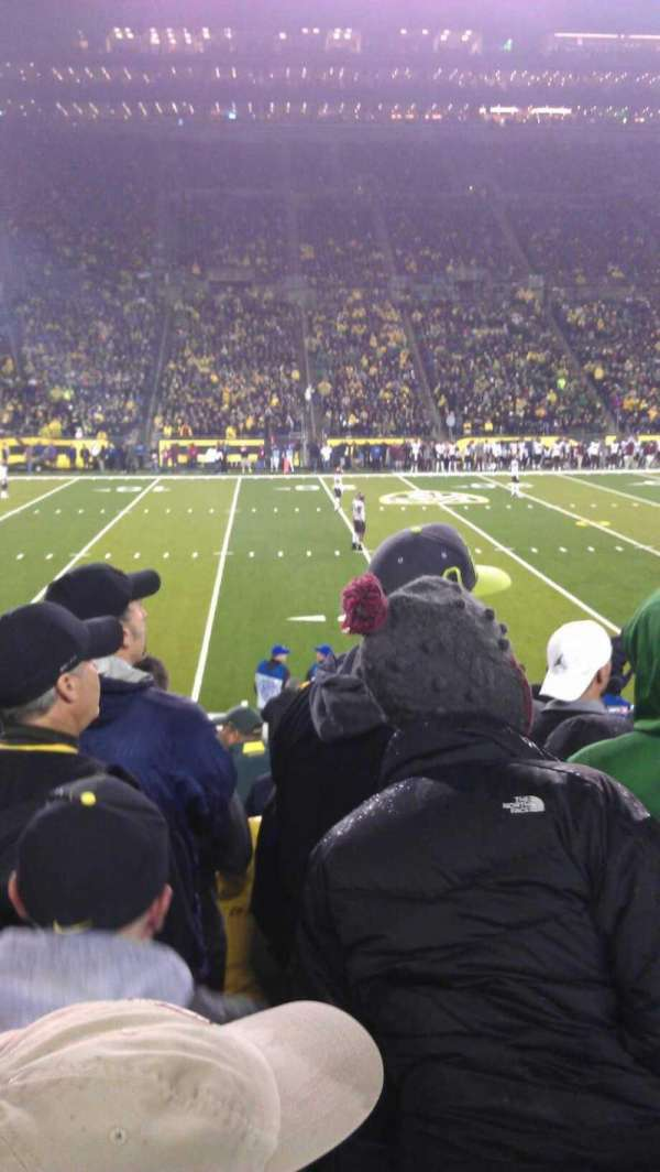 Autzen Stadium, section: 14, row: 15, seat: 5