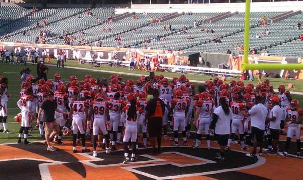 Paul Brown Stadium, section: end zone, row: front, seat: 1-15