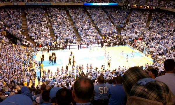 Dean E. Smith Center, section: 223, row: O, seat: 1