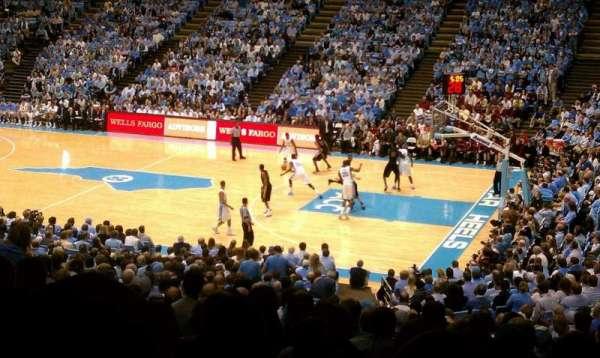Dean E. Smith Center, section: 128, seat: 1