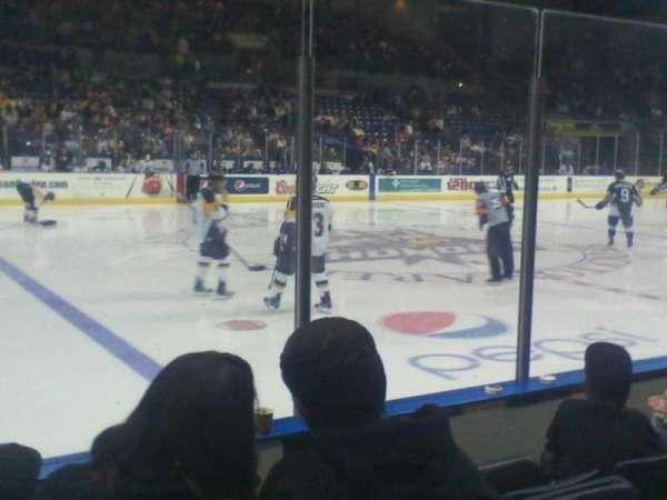 Stockton Arena, section: 116, row: 4, seat: 10