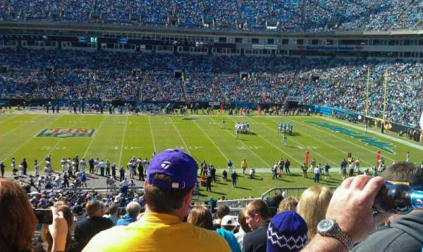 Bank of America Stadium, section: 314, row: 14, seat: 5