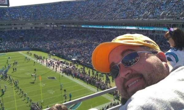 Bank of America Stadium, section: 502, row: 1B, seat: 9