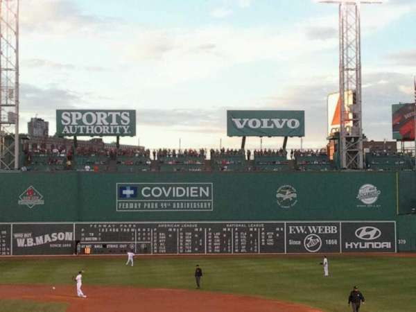 Fenway Park, section: Grandstand 15, row: 2, seat: 5