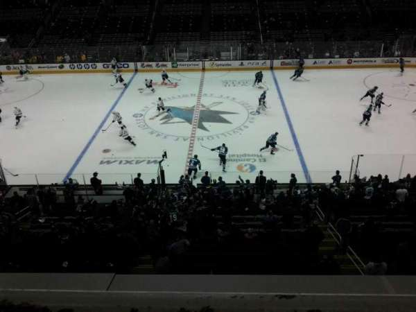 SAP Center, section: 201, row: 1, seat: 7