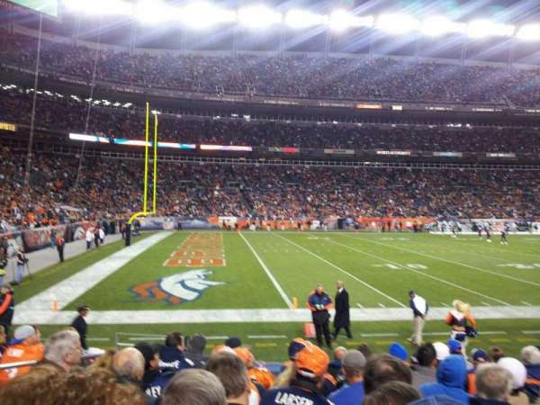 Broncos Stadium at Mile High, section: 109, row: 9, seat: 12