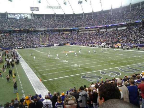 Mall of America Field, section: 102, row: 19, seat: 6