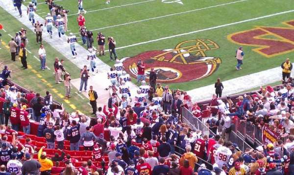 FedEx Field, section: 315, row: 4, seat: 22