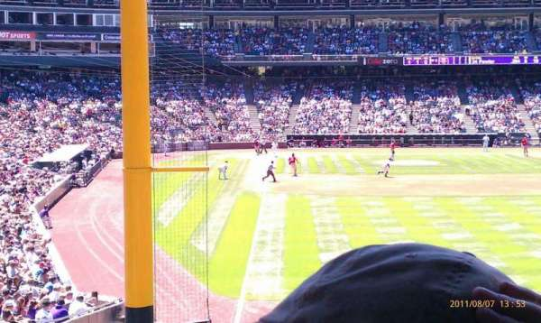 Coors Field, section: 109, row: 3, seat: 6