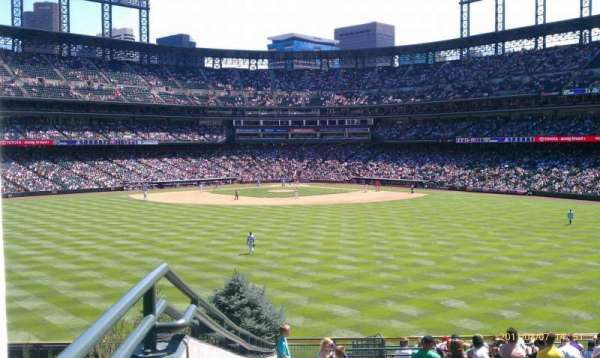 Coors Field, section: 160, row: 17, seat: 16
