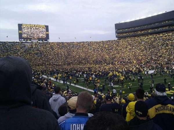 Michigan Stadium, section: 17, row: 32, seat: 1