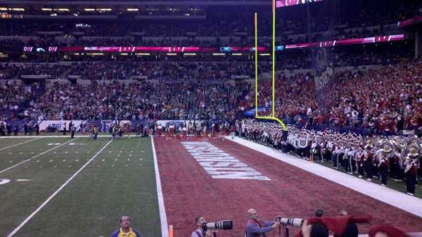 Lucas Oil Stadium, section: 109, row: 5, seat: 14