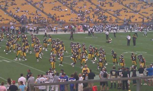 Heinz Field, section: 106, row: p, seat: 2