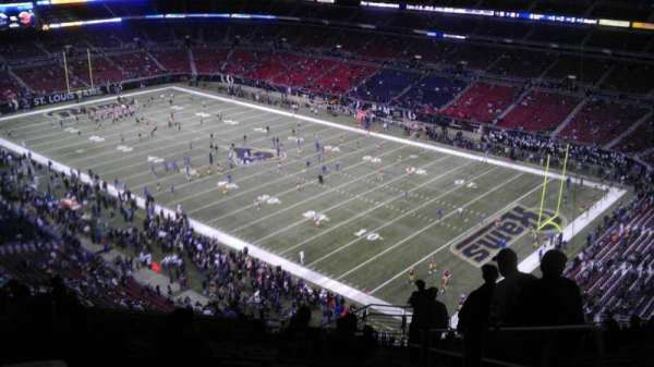 The Dome at America's Center, section: 407, row: PP, seat: 02
