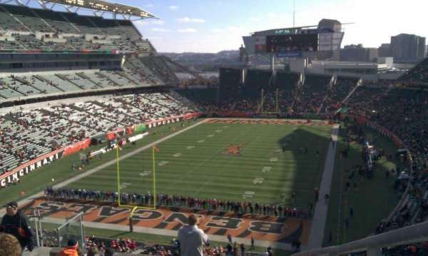 Paul Brown Stadium, section: 222, row: 22, seat: 1
