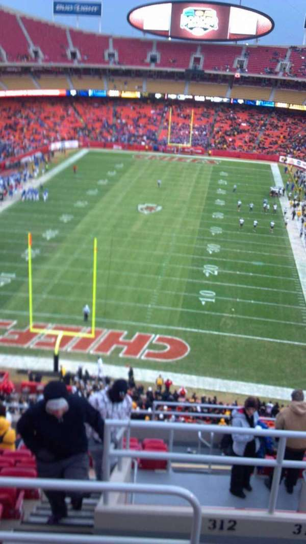 Arrowhead Stadium, section: 312