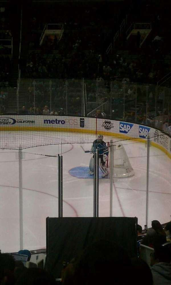SAP Center, section: 113, row: 14, seat: 6