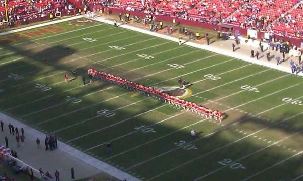 FedEx Field, section: 448, row: 26, seat: 3