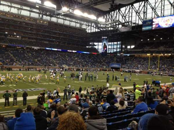 Ford Field, section: 124, row: 8, seat: 4