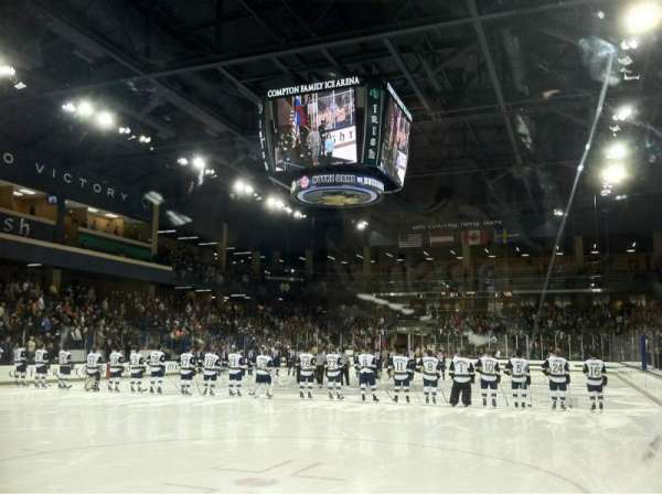 Compton Family Ice Arena, section: 17, row: 1, seat: Q12