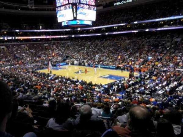 Wells Fargo Center, section: CB16, row: 1, seat: 11