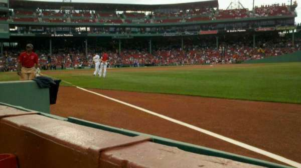 Fenway Park, section: Right Field Box 4, row: F, seat: 1