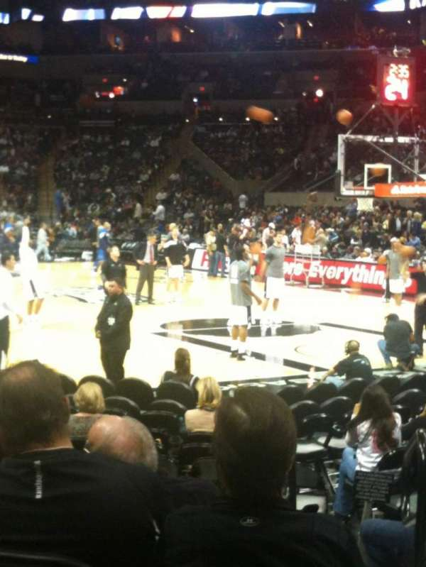 AT&T Center, section: 117, row: 13, seat: 2