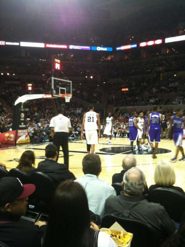 AT&T Center, section: 22, row: 5, seat: 5