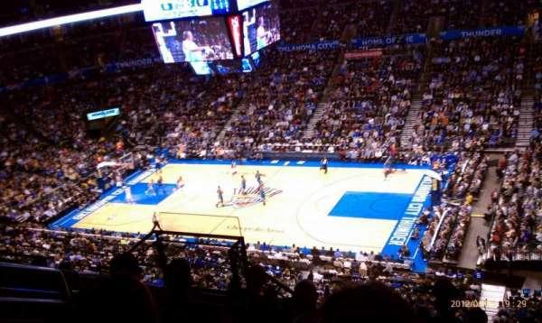 Chesapeake Energy Arena, section: 306, row: H