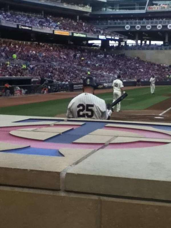 Target Field, section: 5, row: 2, seat: 8