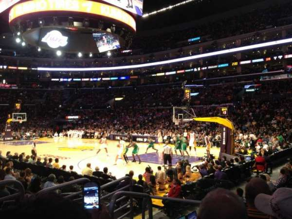 Staples Center, section: 108, row: 7, seat: 18