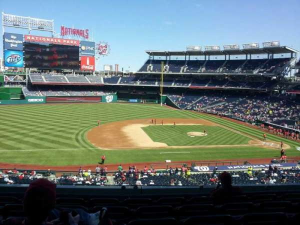 Nationals Park, section: 207, row: F, seat: 12