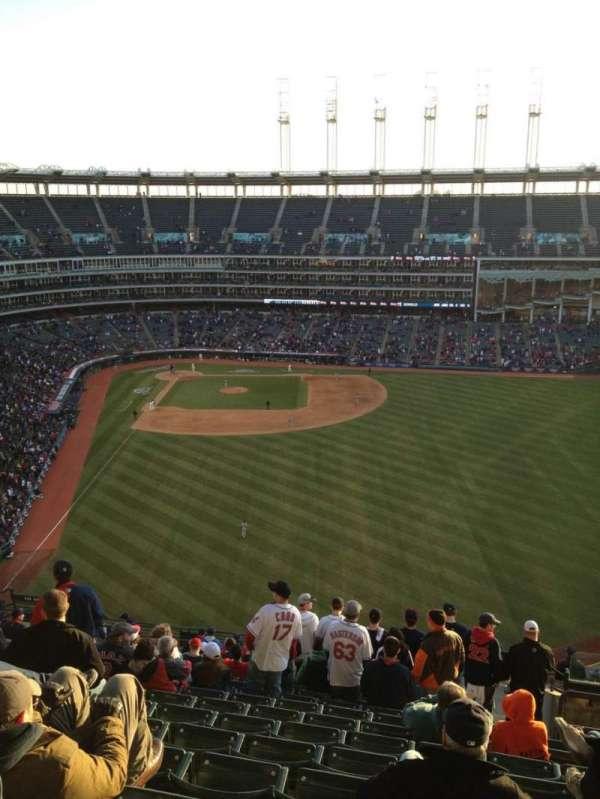 Progressive Field, section: 509, row: S, seat: 4
