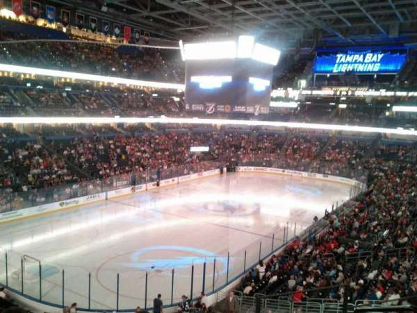 Amalie Arena, section: 206, row: E, seat: 1