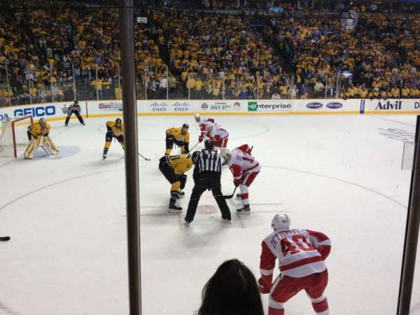 Bridgestone Arena, section: 103, row: DD, seat: 1