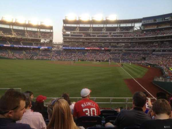 Nationals Park, section: 106, row: F, seat: 15