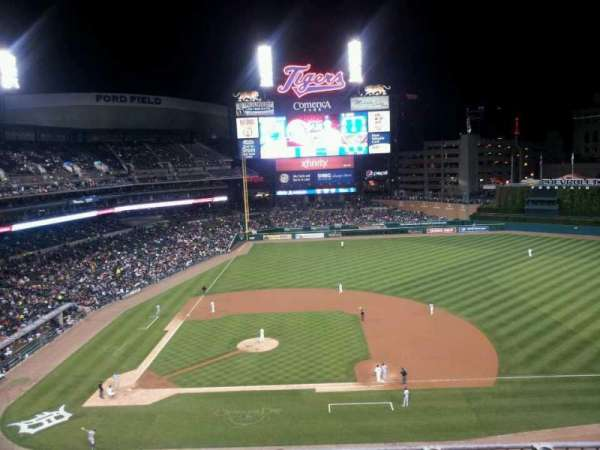 Comerica Park, section: 322, row: 1