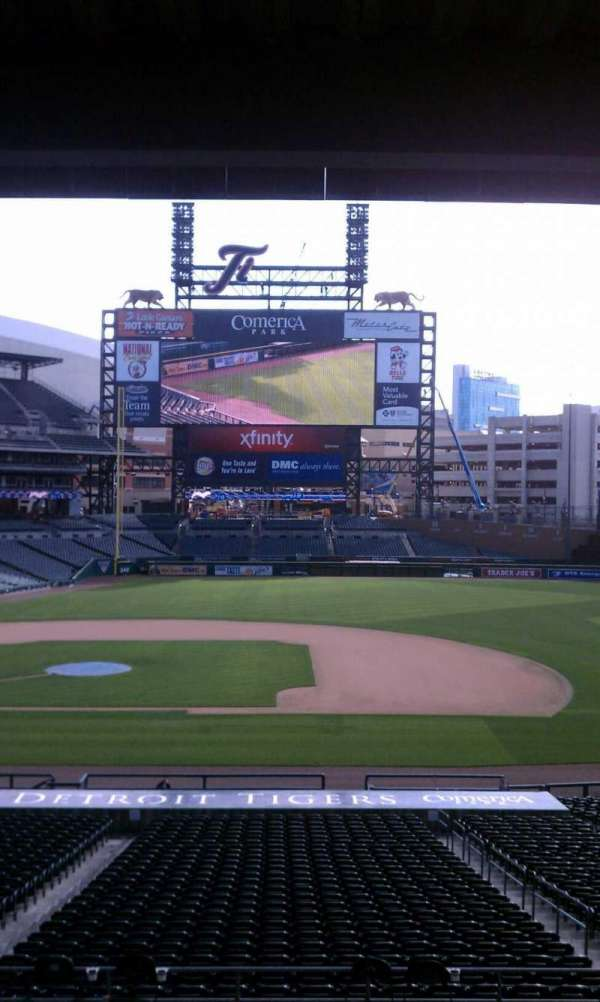 Comerica Park, section: 120, row: 30, seat: 1